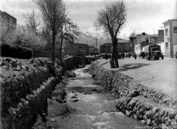 رودخانه کنارآرامگاه بوعلی سینا سال1342