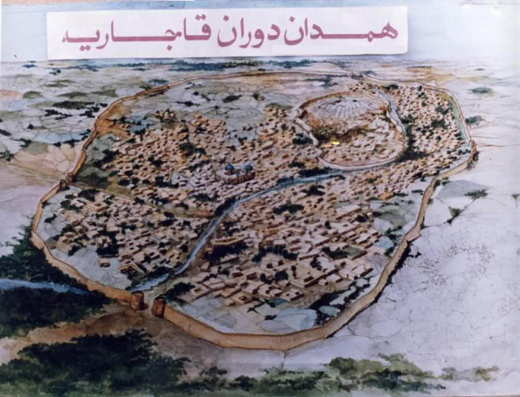 نقشه همدان در دوره قاجاریه