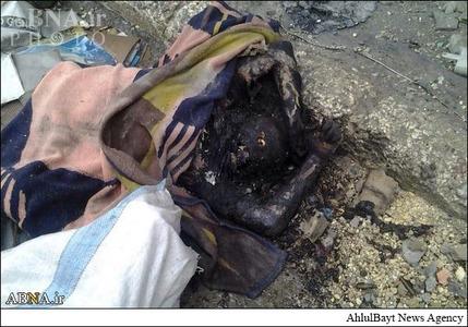 داعش اجساد اعضای خود را آتش می زند+تصاویر