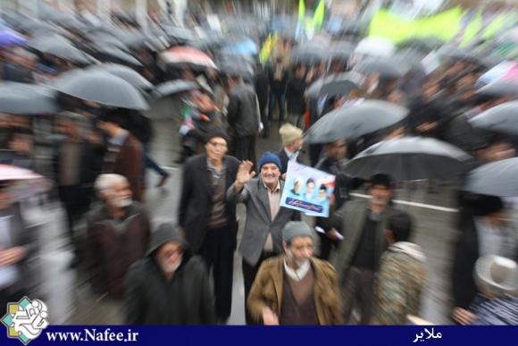 ضربه ملت برای عز/ تجلی حضور پرشور مردم ملایر در راهپیمایی 22بهمن /عکس از محمدگل محمدی