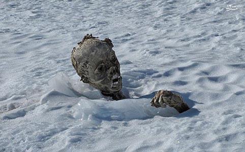 کشف جسد کوه نورد مدفون در برف ، پس از 55 سال