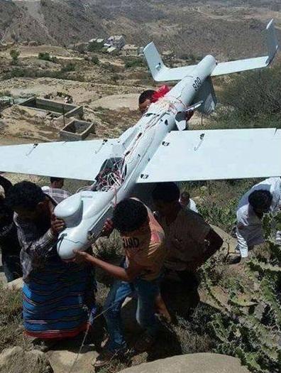 سقوط پهپاد شناسایی آمریکا در یمن + عکس