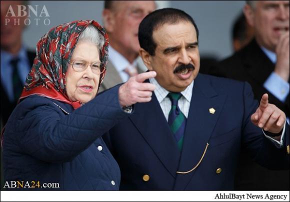 حجاب ملکه انگلیس در دیدار با پاشاه آل خلیفه+تصاویر