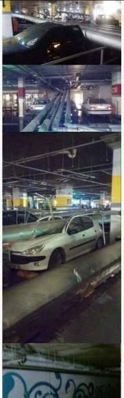 سقوط لوله های فاضلاب در پارکینگ مجتمع تجاری سیتی سنتر+تصاویر