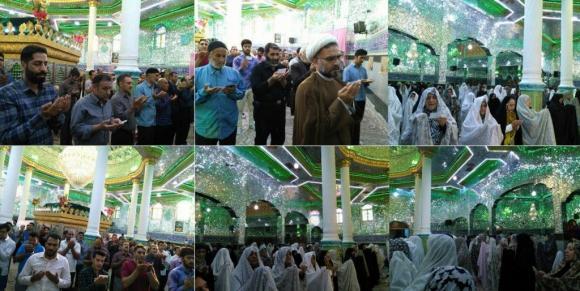 اقامه نماز عید سعید فطر در آستان مقدس شاهزاده محمد(ع) نهاوند