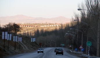 نمایی از جاده گنجنامه در همدان