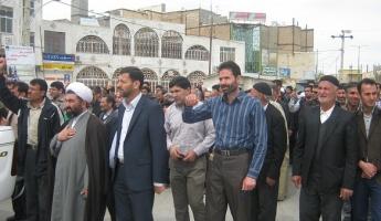 راهپیمایی نمازگزاران کبودراهنگ در محکومیت رژیم آل سعود