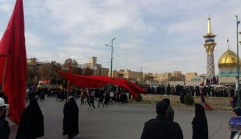 تجمع عزاداران اربعین در همدان