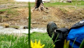 طبیعت زیبا و بکر مسیر چشمه فرشه وجانپناه چوقان(لانه خرس) در همدان