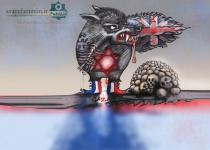 کاریکاتور/سایه شوم رژیم صهیونستی در غزه