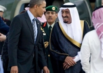 سوتی پادشاه جدید عربستان در مراسم استقبال از اوباما