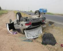 واژگونی خودرو سواری در نهاوند یک کشته و یک مجروح بر جای گذاشت