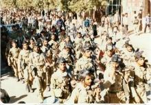 تصاویر اختصاصی و دیده نشده از اعزام نیروهای شهرستان نهاوند به جبهه