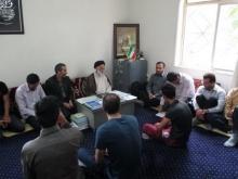 دیدار ورزشکاران حلقه های صالحین با مدیر حوزه علیمه استان همدان