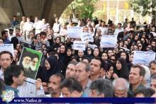 تجمع پرستاران همدان در اعتراض به کاهش حقوق با اجرای طرح قاصدک