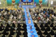 جزء خوانی قرآن کریم مزین به تصویر شهدای مدافع حرم