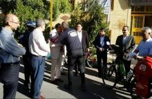 رکابزنی دوچرخه سوار همدانی تا حرم مطهر امام خمینی (ره) + عکس و فیلم