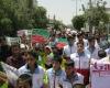 اعلام انزجار مردم منطقه قهاوند از جنایات رژیم اشغالگر قدس