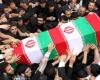 پیکر پاک دو شهید گمنام در همدان تشییع شد