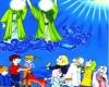 برگزاری جنگ شادی غدیر ویژه کودکان در مریانج