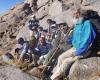صعود گروه کوهنوردی قائم تویسرکان به قله الوند