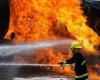 اتوبوس ولوو در آتش سوخت
