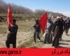 ورود کاروان پیاده زائران عراقی مشهد مقدس به شهرستان نهاوند + تصاویر