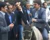 اعتراض بنزینی دانشجوی الاغ سوار!+تصویر