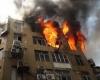 کودک شش ساله ساختمان سه طبقه را با گازفندک به آتش کشید
