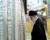 یادداشت رهبر انقلاب در دفتر یادبود حرم حضرت معصومه (س) +عکس