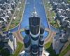 ساخت بلند ترین برج دنیا در ساحل دریای خزر+عکس